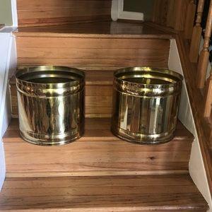 Brass Metallic Plant Holder $35 Each $60 Both